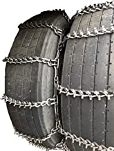 TireChain.com 305/70R22.5, 305 70R22.5 Studded Dual Tire Chains Set of 2