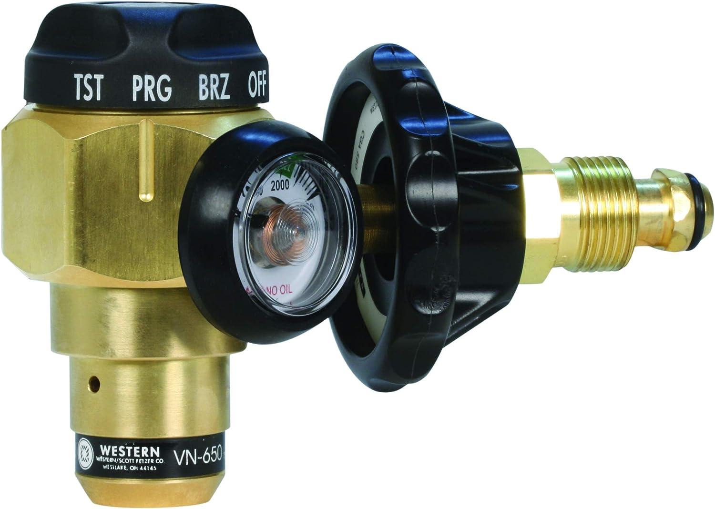 Western Enterprises VN-650 outlet Flowmeter Max 81% OFF Nitrogen Purging Regulator