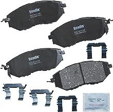 Bendix Premium Copper Free CFC1078 Premium Copper Free Ceramic Brake Pad (with Installation Hardware Front)