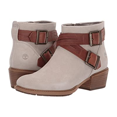 Timberland Sutherlin Bay Cross Strap Ankle Boot (Light Taupe Suede) Women