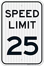 Speed Limit 25 MPH Sign, Large 12×18 3M Reflective (EGP) Rust Free .63 Aluminum,..
