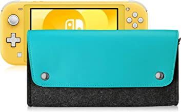 Polaland for Nintendo Switch Lite Case, Portable Carrying Leather Felt Bag Slim Travel Pouch for Nintendo Switch Lite 2019...