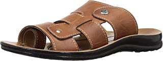 PARAGON Men's Brown Formal Thong Sandals - 9 UK/India (43 EU)(PU6686-73)