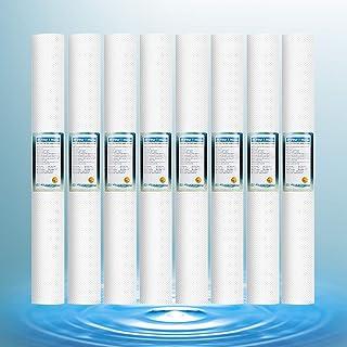 Cartouches Filtrantes d'eau De Particules De Sédiments PP À Osmose Inverse Filtres pour Toute La Maison De 1 Micron pour B...