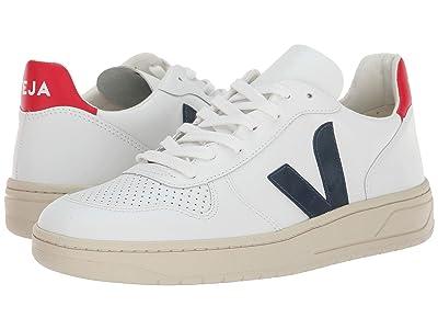 VEJA V-10 (Extra-White Nautico Pekin Leather) Athletic Shoes
