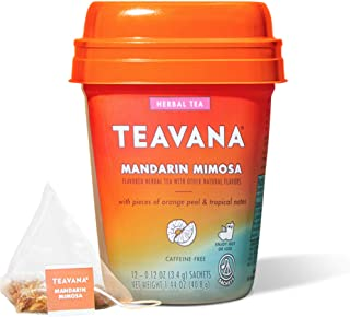 Sponsored Ad - Teavana Mandarin Mimosa, Herbal Tea With Orange Peel & Tropical Notes, Caffeine Free (4 Pack, 48 Sachets To...