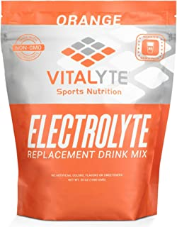 Vitalyte Electrolyte Powder Sports Drink Mix, 80 Servings Per Container, Natural Electrolyte Replacement Supplement for Rapid Hydration & Energy - Orange