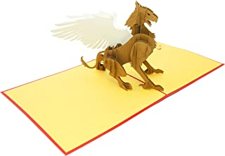 PopLife Magical Griffin 3D Pop Up Card, 3D Card for All Occasions - Gryffin Birthdays