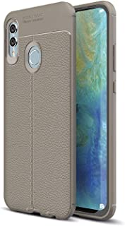 Huawei Honor 10 Lite Case Leather Texture TPU Protector,Grey