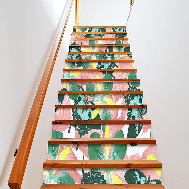 Green Butterfly Import 13 Pieces Set of Wallpaper Stair Riser Peelin 3D Save money