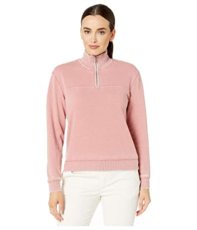 Alternative Burnout 1/4 Zip (Rose Bloom) Women