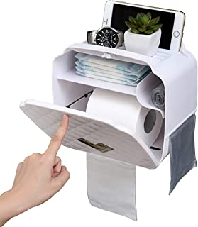 Porta Carta Igienica,Porta Cellulare,Porta Carta Igienica Antitraccia,Porta Carta Igienica Non Porosa,Impermeabile,Bianco