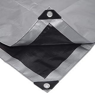 Laneetal Lona Funda Protectora Resistente al Agua y Anti-UV Cubierta de Madera Gris-Negro 3x6m 280g/m² 0930129