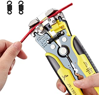 PARON Automatic Wire Stripper with 2pcs Replaceable Springs, 8 Inch Wire Stripping Pliers Self Adjusting with Cable Zip Ti...