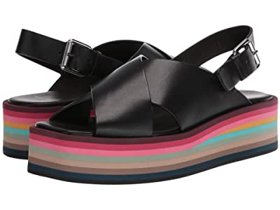 Paul Smith Becca Swirl Sole Sandal (Black) Women