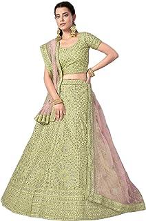تنورة ليهينغا تشولي دوباتا الزفاف الهندي الاستقبال العروس غاغرا الفن الحرير SEQUIN & خيط Lehenga Choli Dupatta 6229