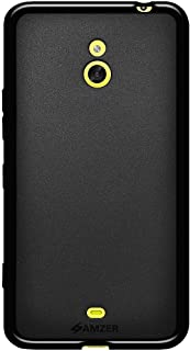 Amzer Pudding Soft Gel TPU Skin Fit Case Cover for Nokia Lumia 1320 - Retail Packaging - Black