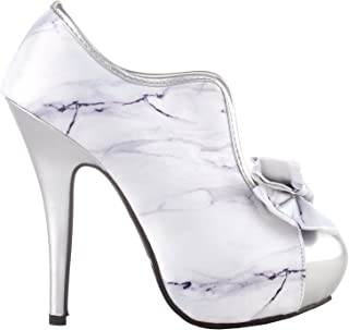 a2ba8d3ef2b9 SHOW STORY Vintage Two Tone Bow Platform Stiletto High Heel Ankle Boots