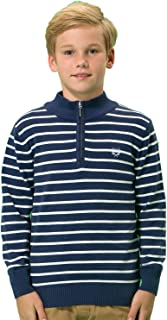 Boys' Wool Blends Casual Pullover Zipper Front Sweater