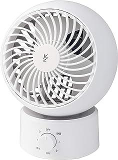 【Amazon.co.jp 限定】 [山善] サーキュレーター 10畳 (換気/空気循環) 首振り固定 上下角度調節 風量3段階調節 静音 ホワイト AAS-W15(W) [メーカー保証1年]