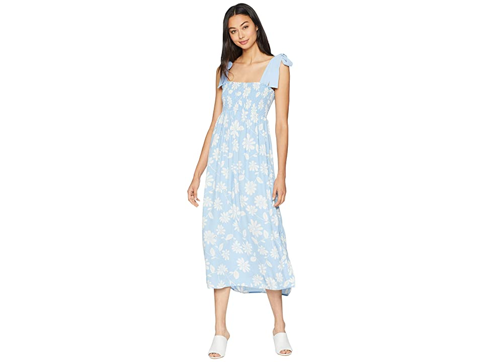 Juicy Couture Sketched Daisy Midi Dress (Blue Chill Sketched) Women