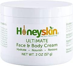 Face and Body Cream Moisturizer - Nourishing Aloe Vera - Manuka Honey for Rosacea Eczema Psoriasis Rashes Itchiness Redness - Natural Organic Cracked Skin Relief - Anti Aging - Anti Wrinkle (2 oz)