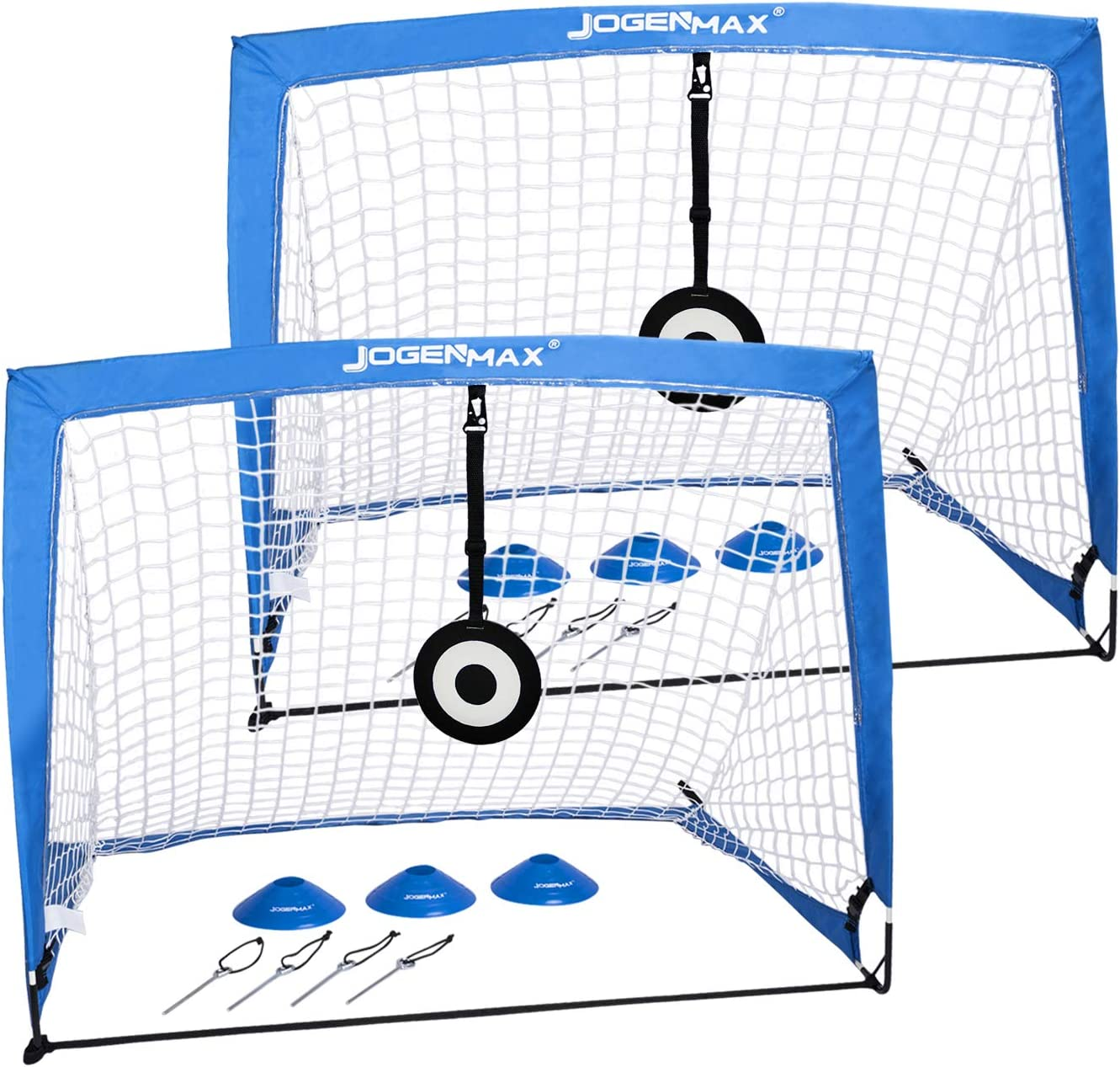 JOGENMAX Portable Soccer Goal Pop Target Aim Large discharge sale Nets with Up Easy-to-use