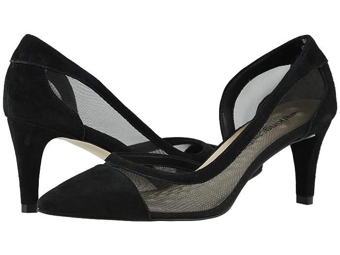 Walking Cradles  Scarlet (Black Mesh/Black Suede) Womens  Shoes