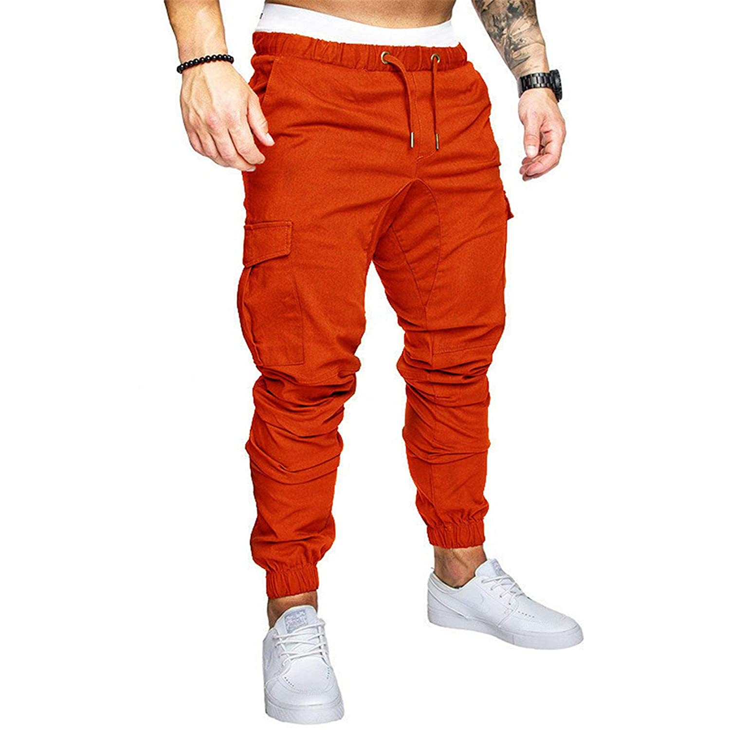 Men's Chino Trousers Drawstring Solid Challenge the National products lowest price of Japan ☆ C Jogging Pant Sweat