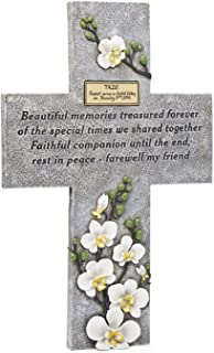 Orchid Valley Pet Memorial Grave Marker Cross Suitable for Any Animal, Cat, Dog, Horse, Guinea Pig, Rabbit etc. Supplied with Blank Plaque to Personalize.