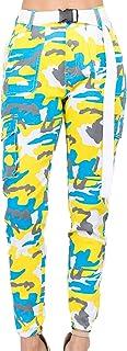 Pantalon de Chándal para Mujer Largos Pantalones │ Pantalones de Camuflaje Cargo Basculador de Cintura Alta para Mujer con...