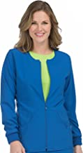 Med Couture Women's 'Activate' Zip Front Warm Up Scrub Jacket