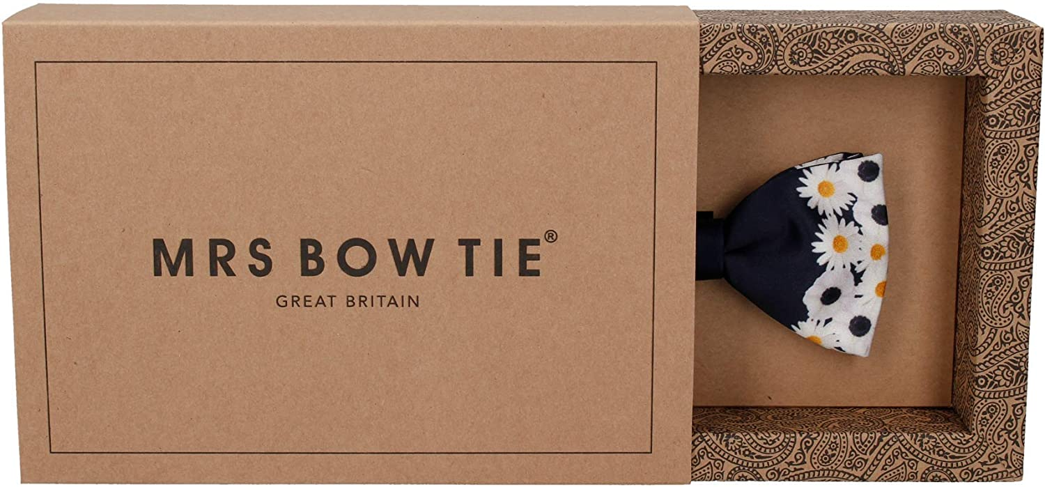 Mrs Bow Tie, Floral Edge Bow Ties