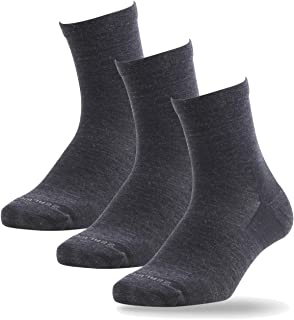 ZEALWOOD, Calcetines deportivos de lana merina para hombres y mujeres acolchados antiampollas para deporte, paquete de 3