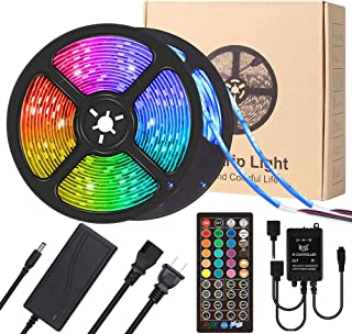 LED Strip Lights, YORMICK 32.8FT/10M 300 LED Light Strip with 3 Music Sync Modes, RGB Color Changing IP65 Waterproof SMD 5050 w/40 Keys Remote Control, Suitable for TV, Bar, Bedroom, Kitchen,Party