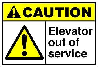 Elevator Out of Service Caution OSHA/ANSI Vinyl Sticker Decal 8