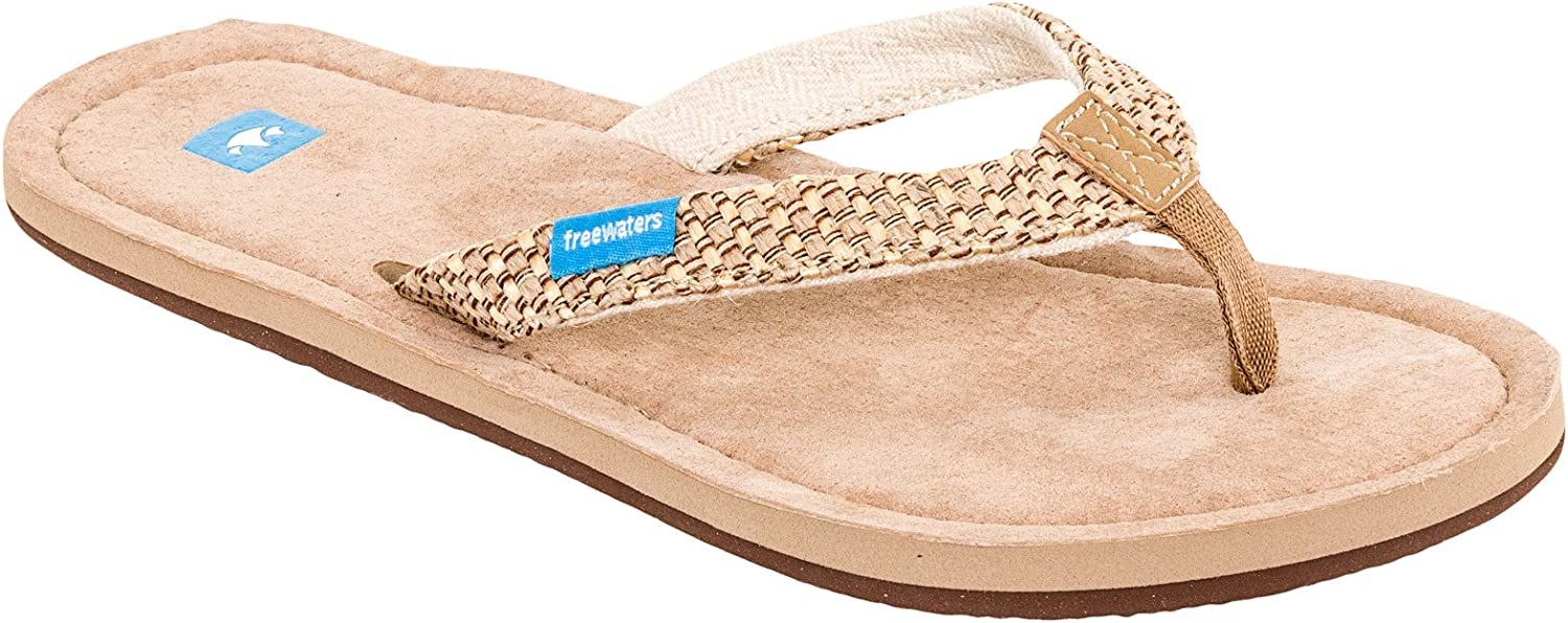 Freewaters Womens Premium Suede Footbed Salina Sandals