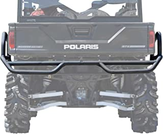 SuperATV REAR Extreme Bumper with Side Bed Guards for Polaris Ranger Full Size XP 570/900 / Crew - Wrinkle Black