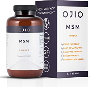 Ojio Pure MSM OptiMSM Powder is Kosher | Vegan | Gluten Free | Non-GMO | No Pesticides or Herbicides and is Independently ...