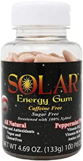 B-Fresh Peppermint Planet Solar Energy Gum, 100ct, No Sugar-May Have a Red Or White Cap