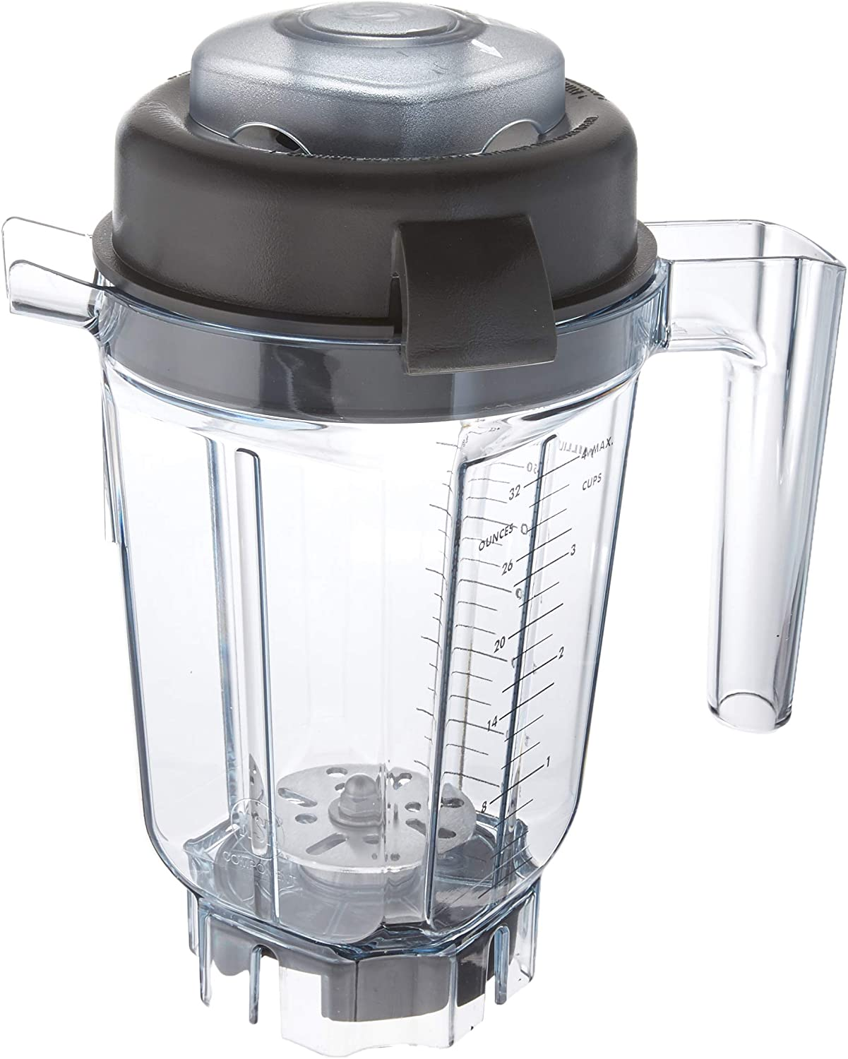 Vitamix 62947 32 oz Compact & Stackable Blade Asse Aerating Container,