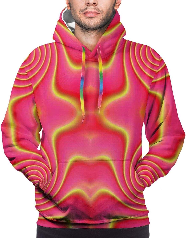 Men's Hoodies Sweatshirts,Digital Painting of Rocky Coast Sea and Cloudy Dramatic Sky Panorama Print