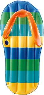 Blue Wave Beach Striped Flip Flop 71-Inch Inflatable Pool Float