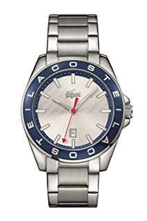 Lacoste 2010887 Stainless Steel Round Analog Watch for Men - Silver