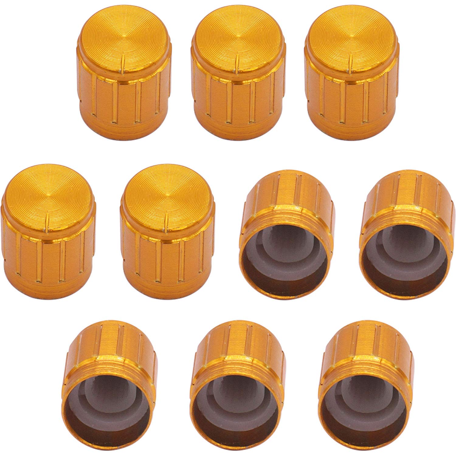 Taiss 10pcs Raleigh Mall Golden New Shipping Free Shipping Color Metal 6 Shaft Po mm Knurled Insert Dia.