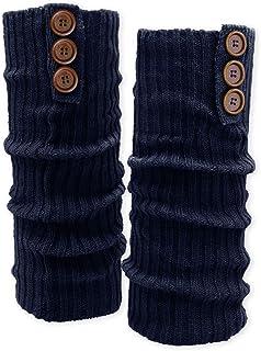 SoulCats Soul-Cats Bein Stulpen mit Knöpfen Beinwärmer blau, beige oder schwarz