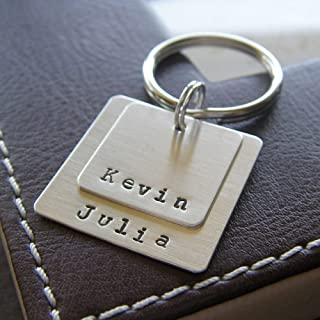 personalized hand stamped keychain