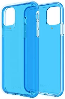 GEAR4 Crystal Palace Neon Compatible with iPhone 11 Pro Max Case, Advanced Impact Protection with Integrated D3O Technology, Anti-Yellowing, Phone Cover – Neon Blue