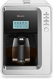 Super Machine à Café K6 Cafetière Thé Automatique HAUSWIRT, 3 Tailles de Mouture, 2-6 Tasses avec Moulin en Acier Inoxydab...