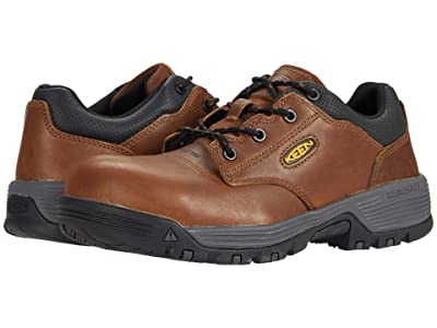Keen Utility Chicago Oxford (Carbon-fiber Toe) (Tobacco/Black) Men